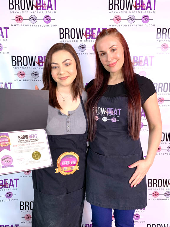 BrowBeat Studio Dallas Advanced Microblading Training Certification